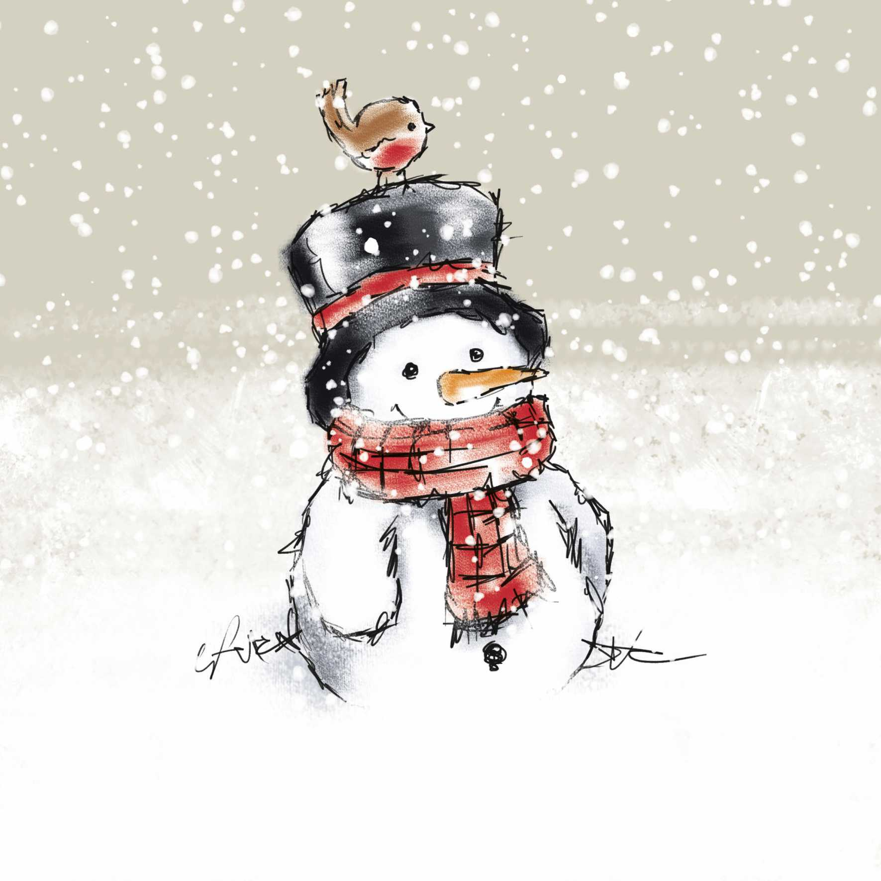 Snowman Christmas Cards (Pack of 10)