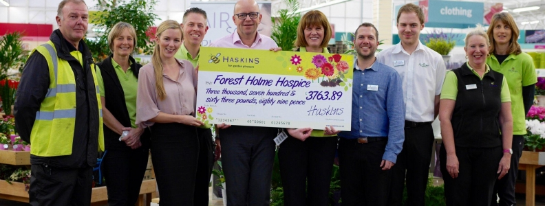 FOREST HOLME RECEIVES FINAL DONATION FROM HASKINS